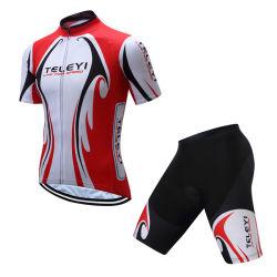 Custom красного цвета Белый короткий рукав Sublimated велосипед одежду