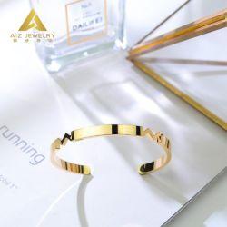 Мода пользовательские 9K 14K 18K желтый золотых ювелирных изделий Производитель 925 серебристые Bangle ювелирных изделий для женщин