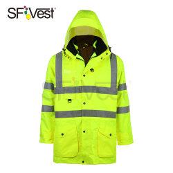 Léger Parka imperméable 3 en 1 veste de sécurité réfléchissant haute visibilité