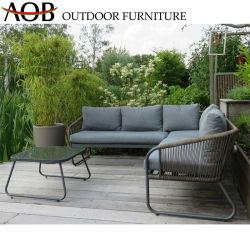 Китайский садовой мебелью сад веревки из отдыхающих один диван со столом