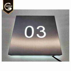 Commerce de gros porte en acier inoxydable Líorientation Floor Office Rectangle creux boîte lumineuse à LED