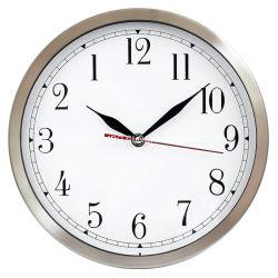 Custom 12inch 30cm dans le sens antihoraire d'aluminium métallique en acier inoxydable de l'horloge murale