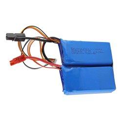 3.7V de Batterij van de Hommel van het Polymeer RC van het Lithium van het hoge Tarief 1250mAh 30c