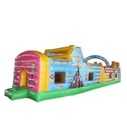 Curso de obstáculo Slide insufláveis brinquedo inflável para o parque de diversões ao ar livre