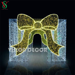 3d Led Gift Box Motif Lights Outdoor Christmas Commercial Display