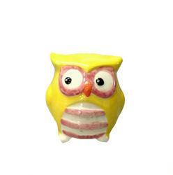 Búho de cerámica de colores sal y pimienta Shaker