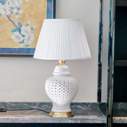중국 골동 가구 - 사기그릇 책상용 램프 La 323