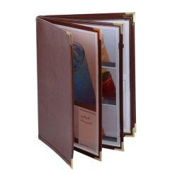 Libro di cuoio dell'alta società del menu dell'hotel del ristorante dell'unità di elaborazione