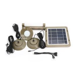 Novo livro verde Sellings quente 3*2W levou 4W de energia solar Sistema de iluminação doméstica de energia para iluminação interior