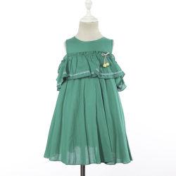 Vêtements d'enfants Les enfants de l'épaule froide ébouriffé bébé fille Frocks robe de coton