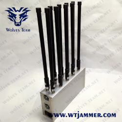 Ordinateur de bureau 50W 10 bandes signal brouilleur de téléphone cellulaire de personnaliser la fréquence UHF/VHF/WiFi2.4G/GPS