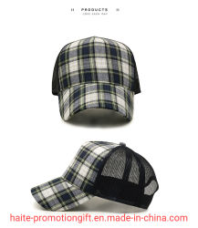 Zomer Casual Outdoor Sun Hats Classic Gecontroleerd Bedrukte Verstelbare Plaid Baseball Caps Mens Dad Hats Voor Groothandel