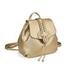 Дамы металлических Gold рюкзак женщина Dayback Designer дамской сумочке