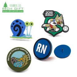 Logo 3D personnalisé promotionnel silicium ID de patch de silicone Nom de la broche d'un insigne à la promotion de gros vêtements Vêtements Vêtement en PVC souple en plastique de l'aimant gaufré insigne en caoutchouc