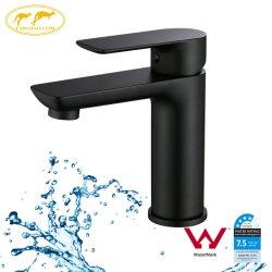 Articoli sanitari della stanza da bagno del quadrato della filigrana della Cina del bacino del colpetto nero rotondo del rubinetto (103101BK)