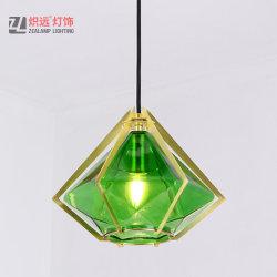 Acrílico verde sombra un moderno comedor luz colgante decorativo