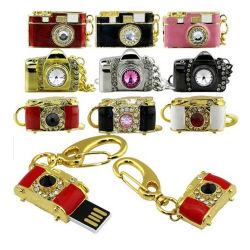 사진기 모양 Jwellery USB 플래시 디스크는 로고를 해방한다
