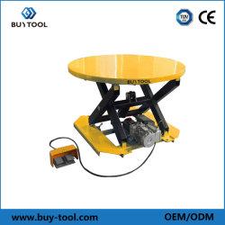Table élévatrice hydraulique rotatif ciseaux avec poche de la fourche