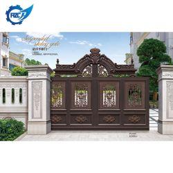 Porte coulissante automatique en aluminium à porte principale de la cour de conception moderne