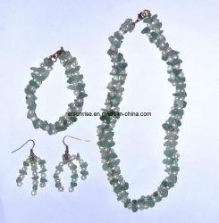 Gemstone Crystal Fashion Jewelry Colar de pérolas Conjuntos de jóias <Esb01367>
