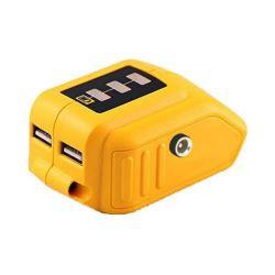 8V-22V recargable de 2 puertos USB Adaptador de batería de iones de litio Dewalt DCB090.