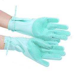 Очистка долго домашнего хозяйства Silincone перчатки термостойкий многофункциональный силиконового герметика на кухне с помощью силиконового герметика инструменты перчатки