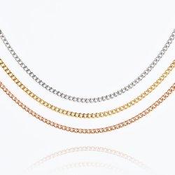 الجملة Stetant Steel Gold Plated Pendant عقد مجوهرات الهيب هوب سوار الرجال لتصميم الأزياء