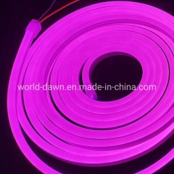 Van de Roze LEIDENE van gelijkstroom 12V 24V de Decoratie die van Kerstmis Lichten van de T.L.-buis het Kleine In het groot LEIDENE van de Blaar van Grootte Licht van de Flexibele 5m Strook van het Neon aansteken