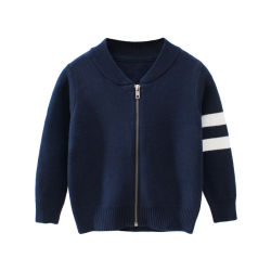 Молнии зимний свитер хлопок детский одежда куртка Fashion покрыть трикотажных изделий