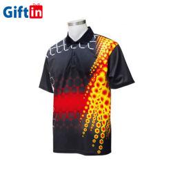 Таким образом OEM логотипа вышивкой Racing Работы дизайнера сухой установите полиэстер спандекс поле для гольфа печати белого цвета с термической возгонкой Custom рубашки поло мужчин спортивная одежда рубашки поло