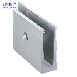 Hersteller-Aluminiumprofil-U-Profilstäbeunterseiten-Schuh-Glasgeländer-Systeme