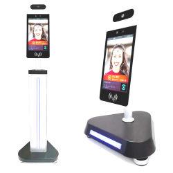 La mesure de température du corps humain automatique caméra Machine biométrique de reconnaissance de visage en 3D temps système de présence