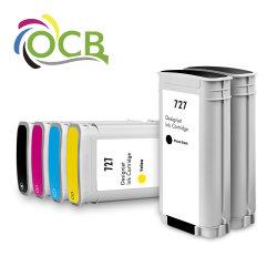 Ocbestjet 130ml para HP 727 Premium compatível com cor de cartucho de tinta com tinta Corante para HP T920 T1500, T2500 Impressora