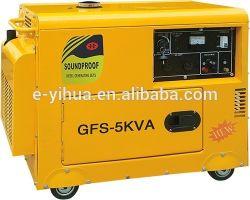 kühler beweglicher Generator der leisen kleinen Luft-5kw, leiser Dieselgenerator