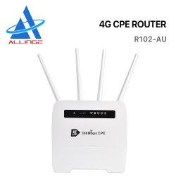 Lyngou LG349 300Mbps 4G Lte屋内CPE WiFiのルーター無線モデムサポート32ユーザー