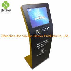 Innenfußboden-stehender Touch Screen LCD, der Metallausstellungsstand bekanntmacht