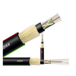 ADSS/Gyffy с Anatel Сертификат оптоволоконных на заводе для использования вне помещений коаксиального кабеля антенны Self-Supporting All-Dielectric больших Span бронированные кабель