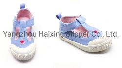 Ademt de Leuke Schoen van de baby met het Bovenleer van het Borduurwerk de Schoenen van de Injectie voor de Openlucht Toevallige Schoenen van Jonge geitjes