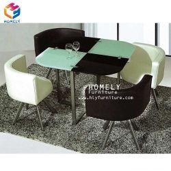 طاولة طعام منزلية/أثاث غرفة طعام/طاولة طعام رخامية زجاجية