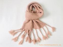 Зимняя Фэшн шарфом твердых 100% полиакрил трикотажные длинный шаль с большой холодильник