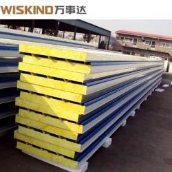 Buitenmuur Rockwool Roof Tile SIP Mineral Wool Sandwich Panel Productielijn voor plafond