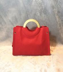 Sacchetto di legno casuale del sacchetto della parte anteriore della borsa delle signore delle maniglie