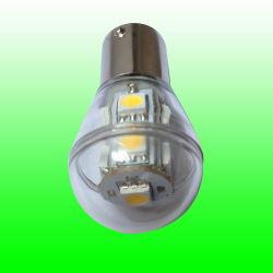 Светодиодная лампа, лампа, лампа Canbus, S8 9SMD 5050LED 2W ba15D/ba15s/Bay15D, 360градусов прозрачную крышку, 12V AC/DC или 10-30В постоянного тока