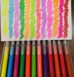 Escuela y Oficina de suministros de gel lavable Crayon Trayon Trayon Lápiz de crayón de escritorio juego