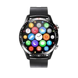 تخفيضات ساخنة ساعة ذكية Mv55 Sport شاشة كبيرة الزجاج المقسى حزام من الجلد المعصم بنمط مزدوج مع ساعات ذكية للموسيقى
