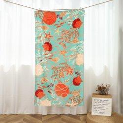 Asciugamano da spiaggia 100% cotone con motivo di stampa a colori reattivi per Vasca da bagno spool Sport palestra nuoto