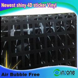 Новых блестящих воды 4d-Cube наклейку черный авто виниловая пленка устройства обвязки сеткой