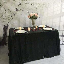 黒いスパンコールのテーブルクロスの織物の粋なテーブルクロスの卸売
