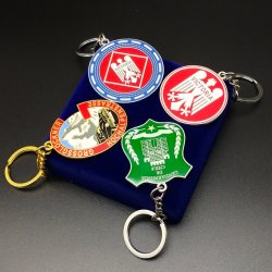 Fabrik-kundenspezifische Metallkunst-Fertigkeit personifiziertes Auto-Firmenzeichen-Decklack-Schlüsselring-Andenken Keyfob Halter-förderndes Geschenk Keychain mit Ihren Selbst Entwurf