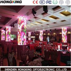 Publicidade Indoor P7.62 RGB LED Tela com gabinete de metal para instalação fixa